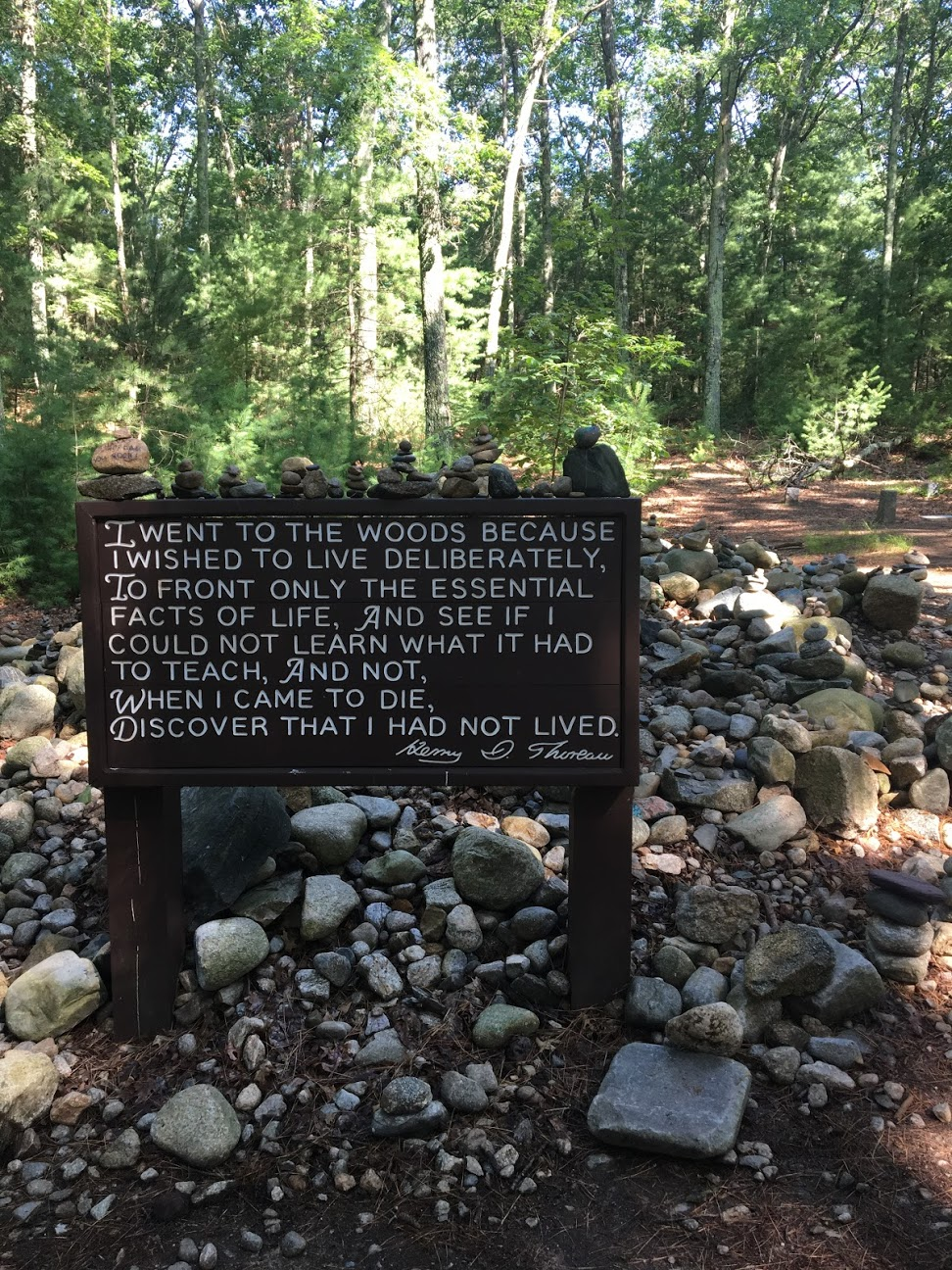 Sign at Thoreau's cabin site