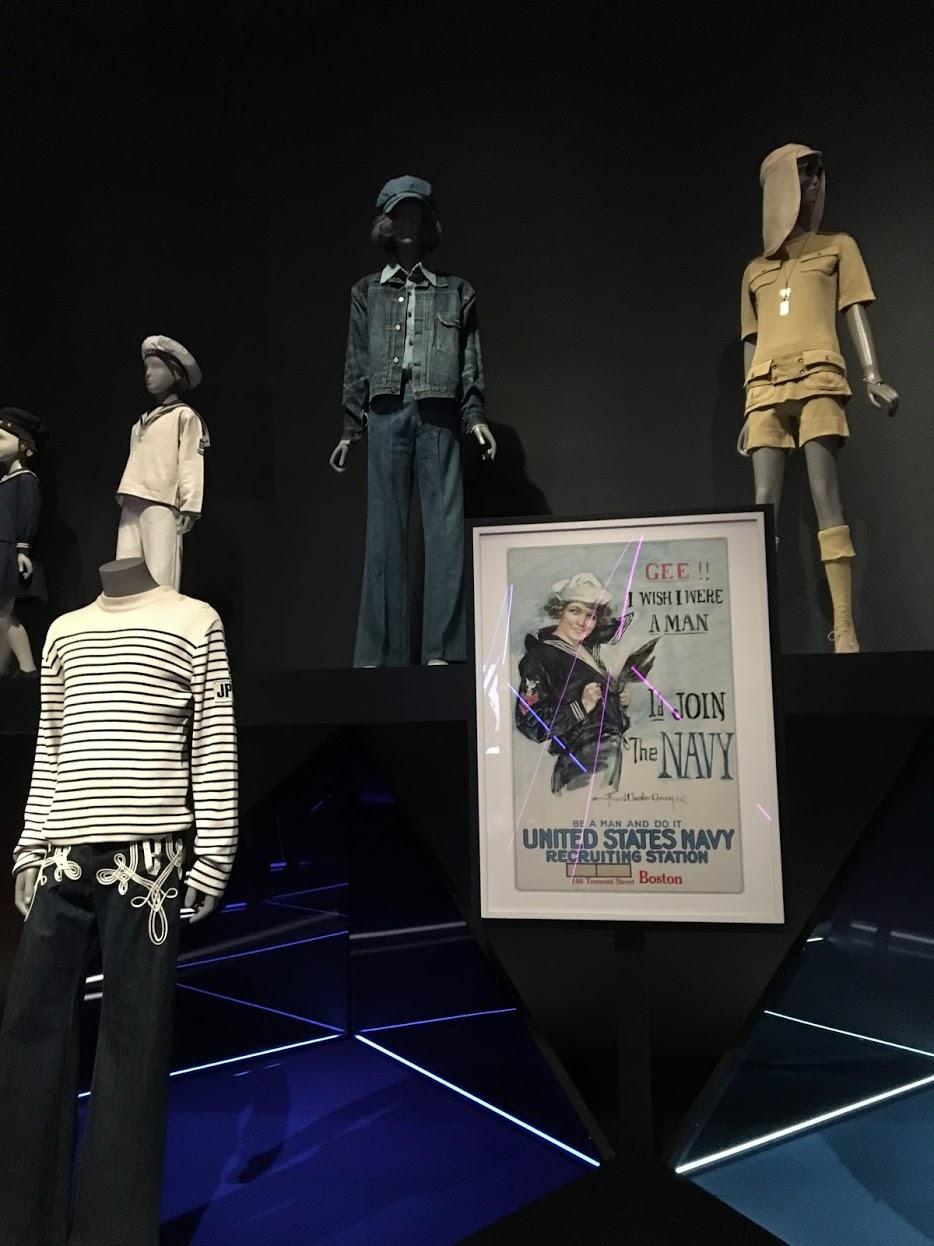 Navy-inspired gender-bending fashions