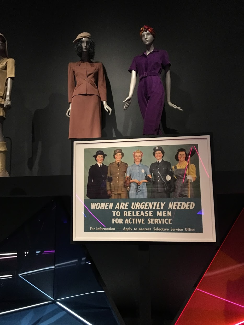 WWII-inspired gender-bending fashion for women