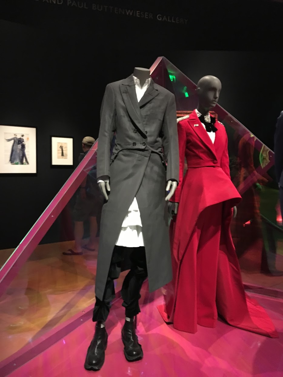 The red suit was worn by Janelle Monae