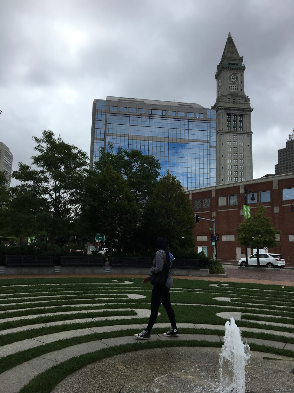 The Rose Kennedy Greenway labyrinth