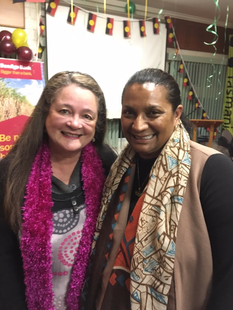 Nova Peris inspirational speaker for the 2017 Running Festival with the author.