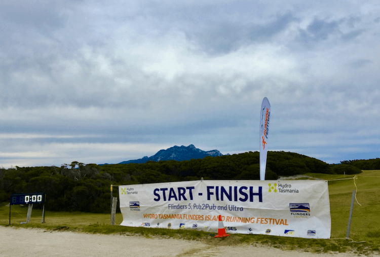 Start and finish line at the Sports Club with our famous Mt Strzelecki in the background.