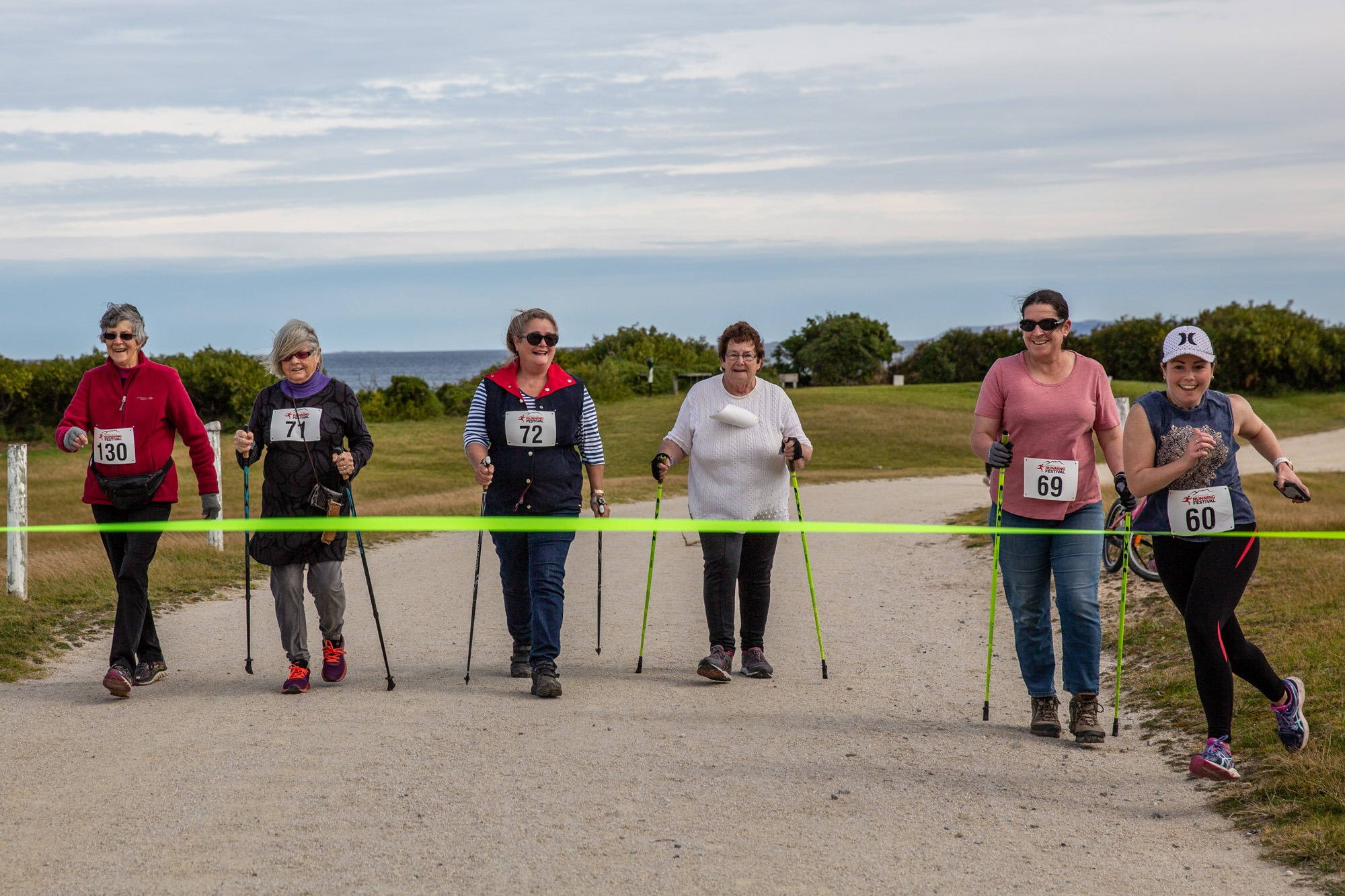 This picture by Sammi Gowthorpe, shows the Lady Barronesses Pole Walkers being pipped at the post