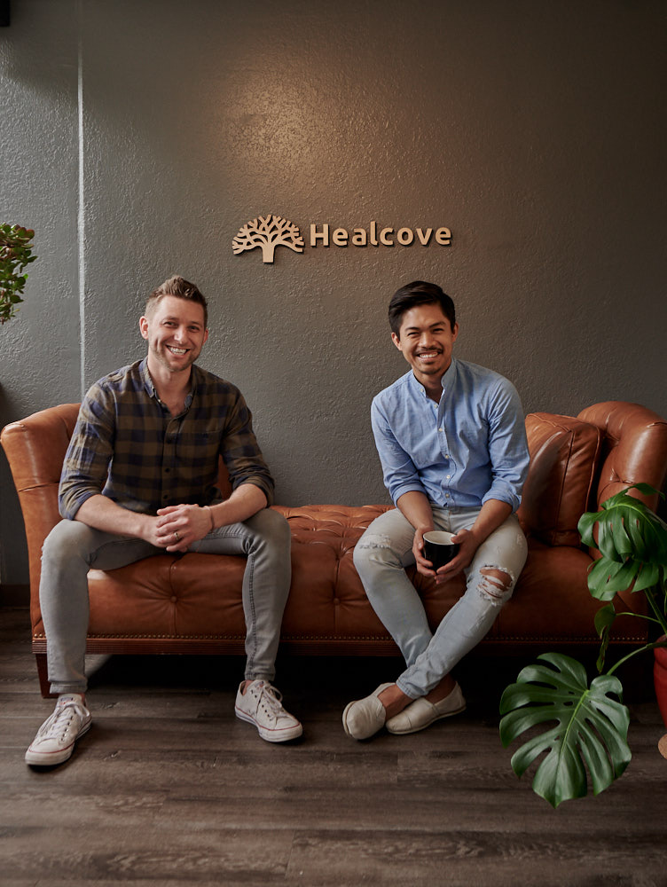 "The Healcove Creators - // Co-creators: Dr. Travis Johnson (left) and Jann Rey Pontillas (right)Jann Rey PontillasCo-creator, Business and Creative DirectorAfter 4 years of connecting attorneys with people that have been injured by pharmaceutical drugs and devices, Jann Rey decided that there's a different way to help others.He joined Healcove when it was still called Your Healthy Spine to help people find out about the clinic's magic. Passionate about constant improvement, he leverages his background in marketing and hospitality to ensure that patients, providers and staff experience joy in receiving and providing care.Frequently self-diagnosing while bearing his share of trauma and sports injuries, Jann Rey is a bit of a hypochondriac. His go-to medicines, though, are painting and yoga. A dancer in recovery, Jann Rey currently trains in Horton Technique and Pilates.As our in-house ""multipotentialite"", Jann Rey can build a website, develop a business strategy, decorate a beautiful space that's functional, and make a delicious salad. His weakness? Breakfast pastries.Dr. Travis JohnsonCo-creator, Clinical DirectorTravis' involvement in medicine began while volunteering as an EMT for a rural ambulance service as a teen and continued in college as he worked graveyard shifts, full-time.Responding to the unexpected and treating those who had suddenly met the most vulnerable and weakest moments of their life was deeply humbling and impactful. These early, life-altering years defined how he witnessed trauma, injury, and the healing process. Treating and understanding how the body stores trauma remains one of his greatest areas of personal research and devotion.He earned his doctorate from Northwestern Health Sciences University and became interested in integrative medicine. After graduate school he founded YHS Integrative Clinic, which later transformed into Healcove Clinic. Over the past 10 years he has helped create a platform for collaborative healthcare.He has been an active leader and teacher in the San Diego community. You can find him pouring over a new book, on the sunny beaches, family in tow."