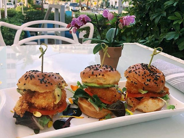 Shrimp sliders 😋Come try them at Village Cafe #MiamiFood