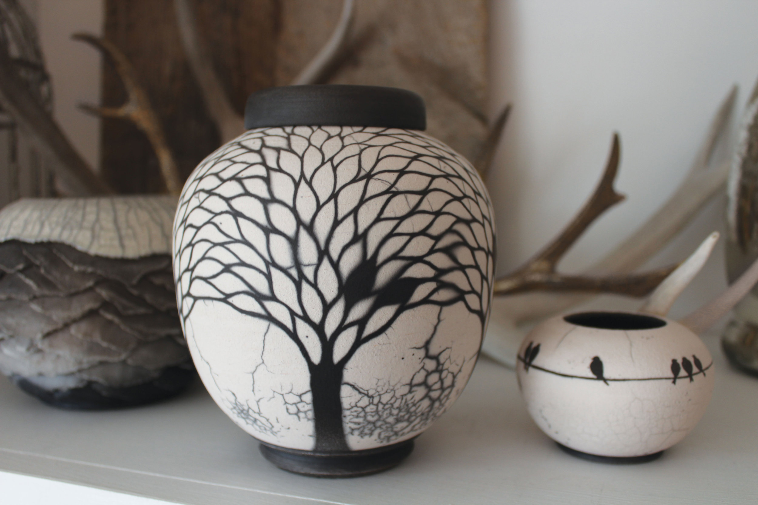 Raku - The trapped smoke on these unique pieces will capture your imagination.