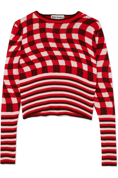 Molly Goddard - Fifi Checked Patterned Sweater