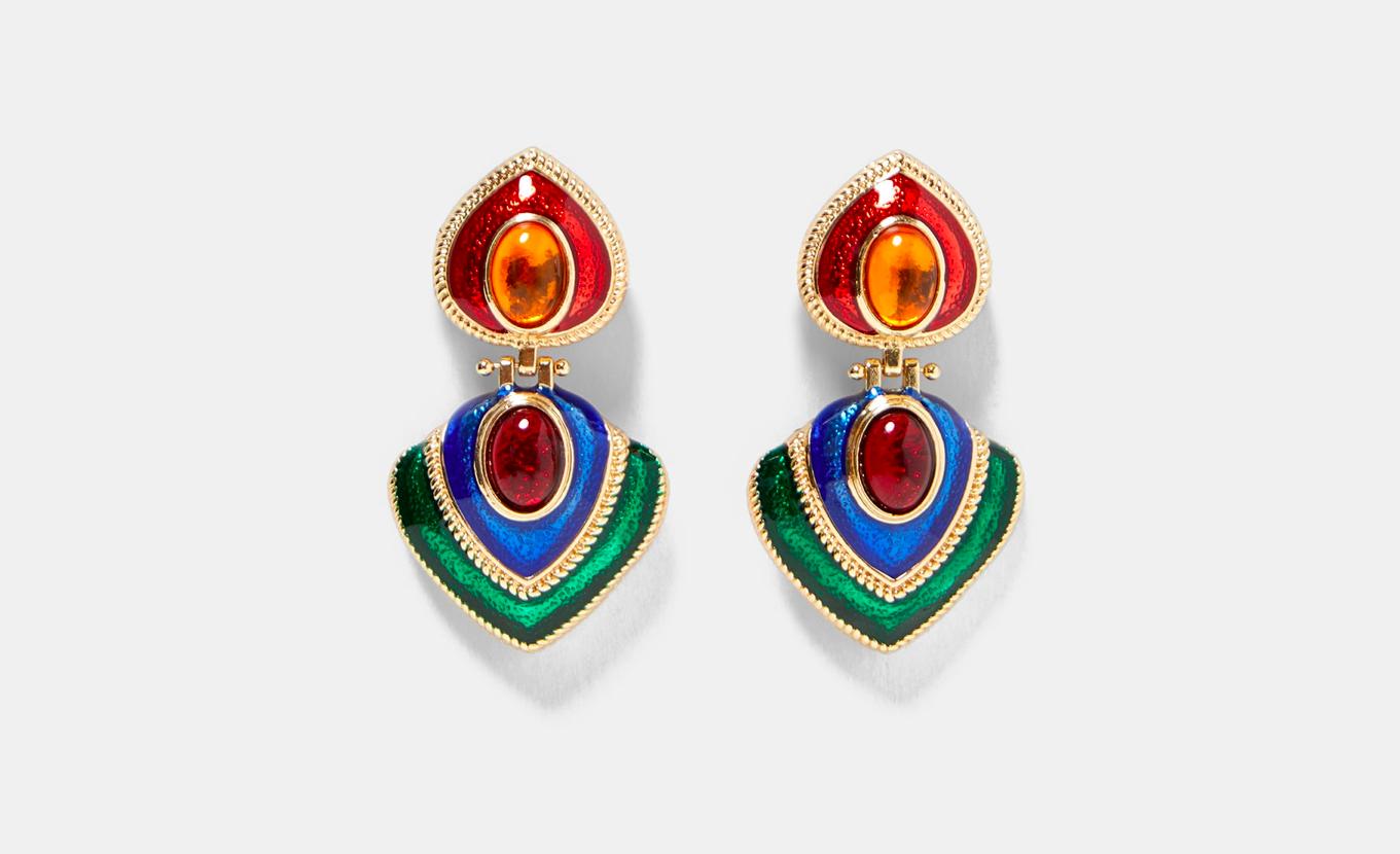 Zara - Colorful Vintage Earrings
