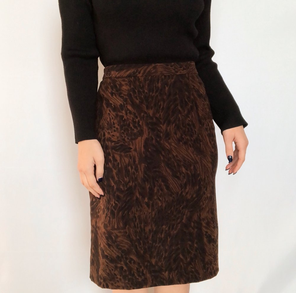 Vintage Supple Animal Print Midi -