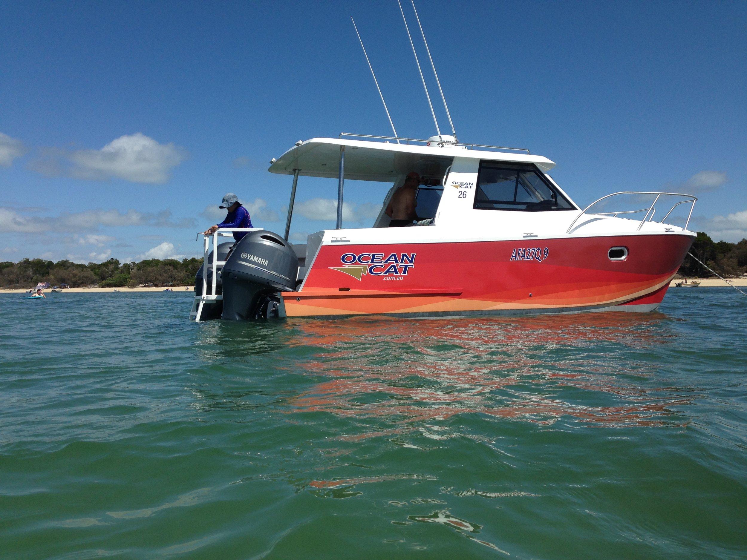 Family enjoying the beautiful waters of Moreton Bay