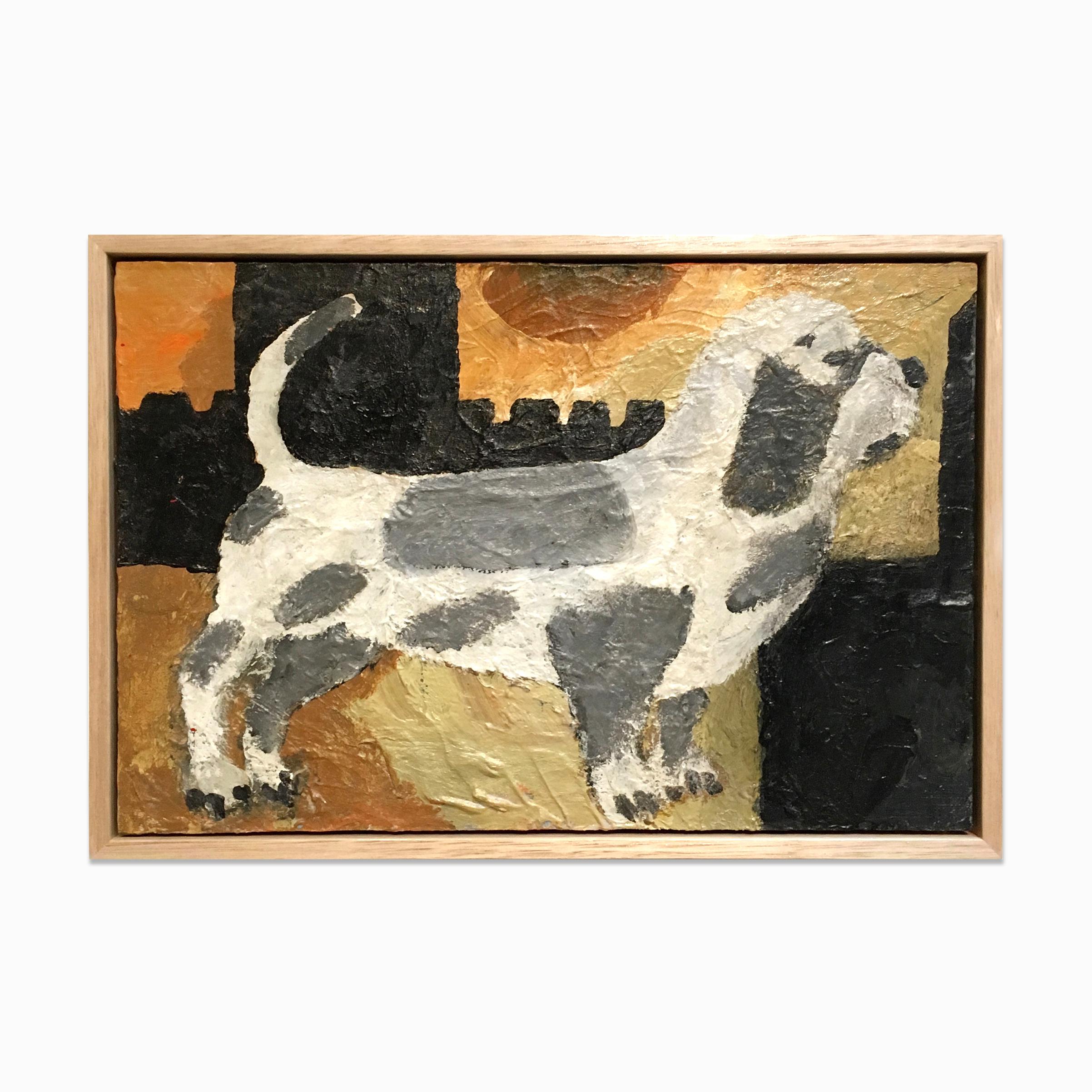 Just call it Dogboy  Acrylic on board 450 x 300mm  2016