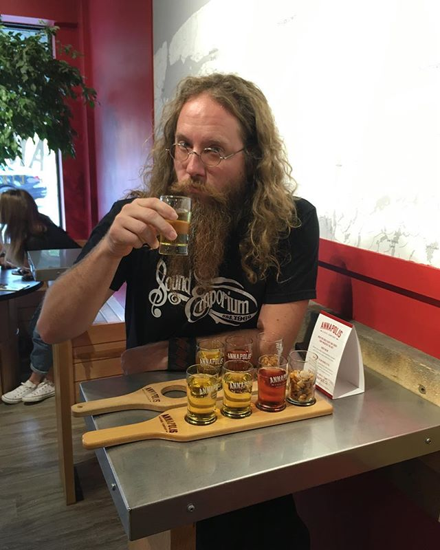 Nope, those aren't @jasonvalleau 's urine samples from the last two days of tour. We are currently at the Annapolis Cider Company @drinkannapolis but heading to Canning tonight. Still room at the show. Message me for info.