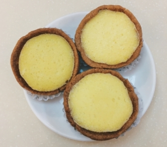 Vegan 'egg' tarts from Loving Hut, Hong Kong