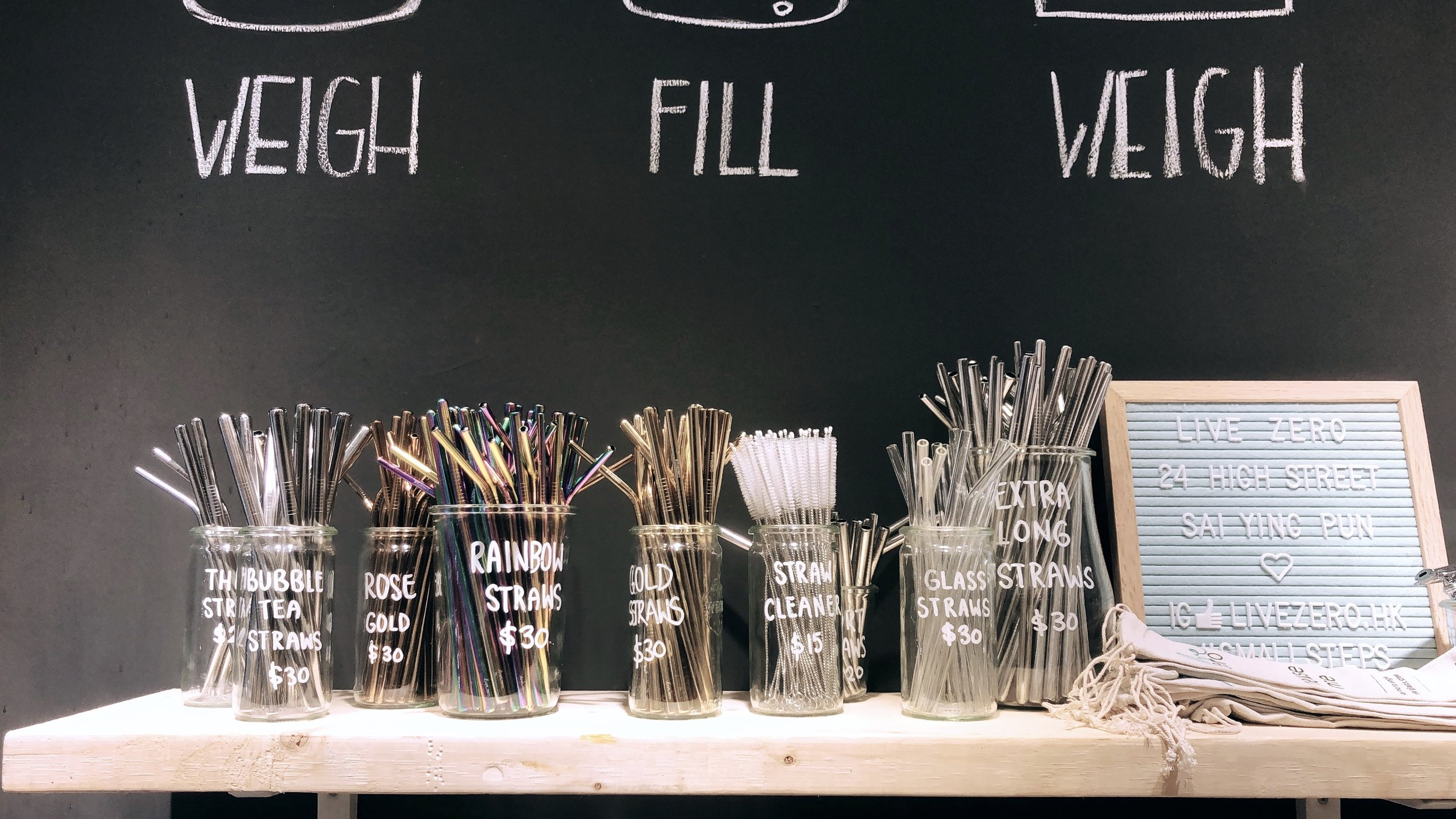 Reusable Straws from Live Zero, 24 High Street Sai Ying Pun