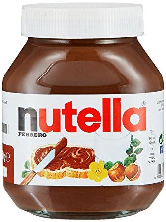 Nutella https://www.amazon.com/Nutella-Ferrero-Hazelnut-Spread-26-5/dp/B008TMIO2M