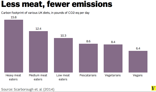 Carbon Emissions of Different Diets