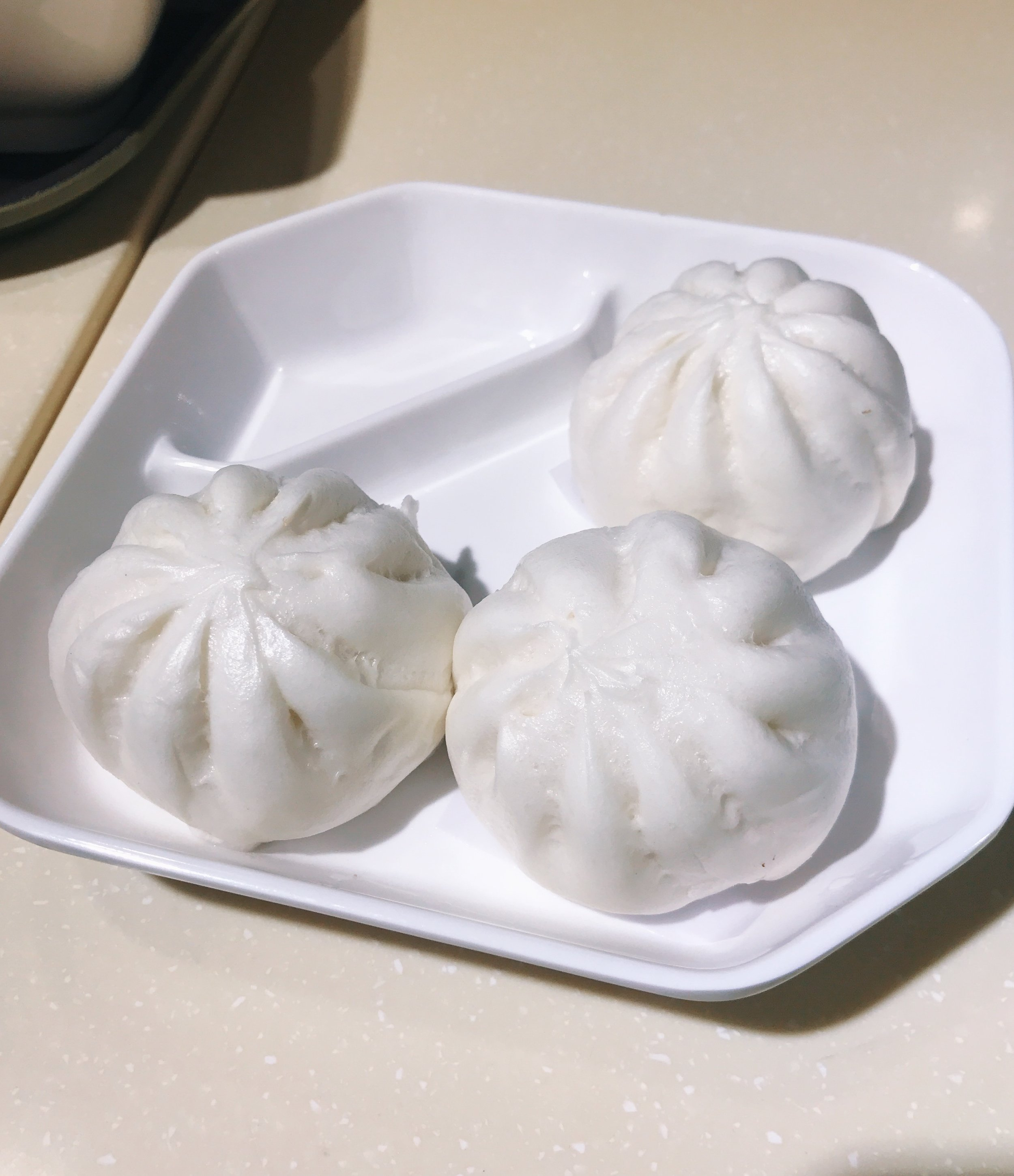 Barbecue 'pork' buns from Loving Hut