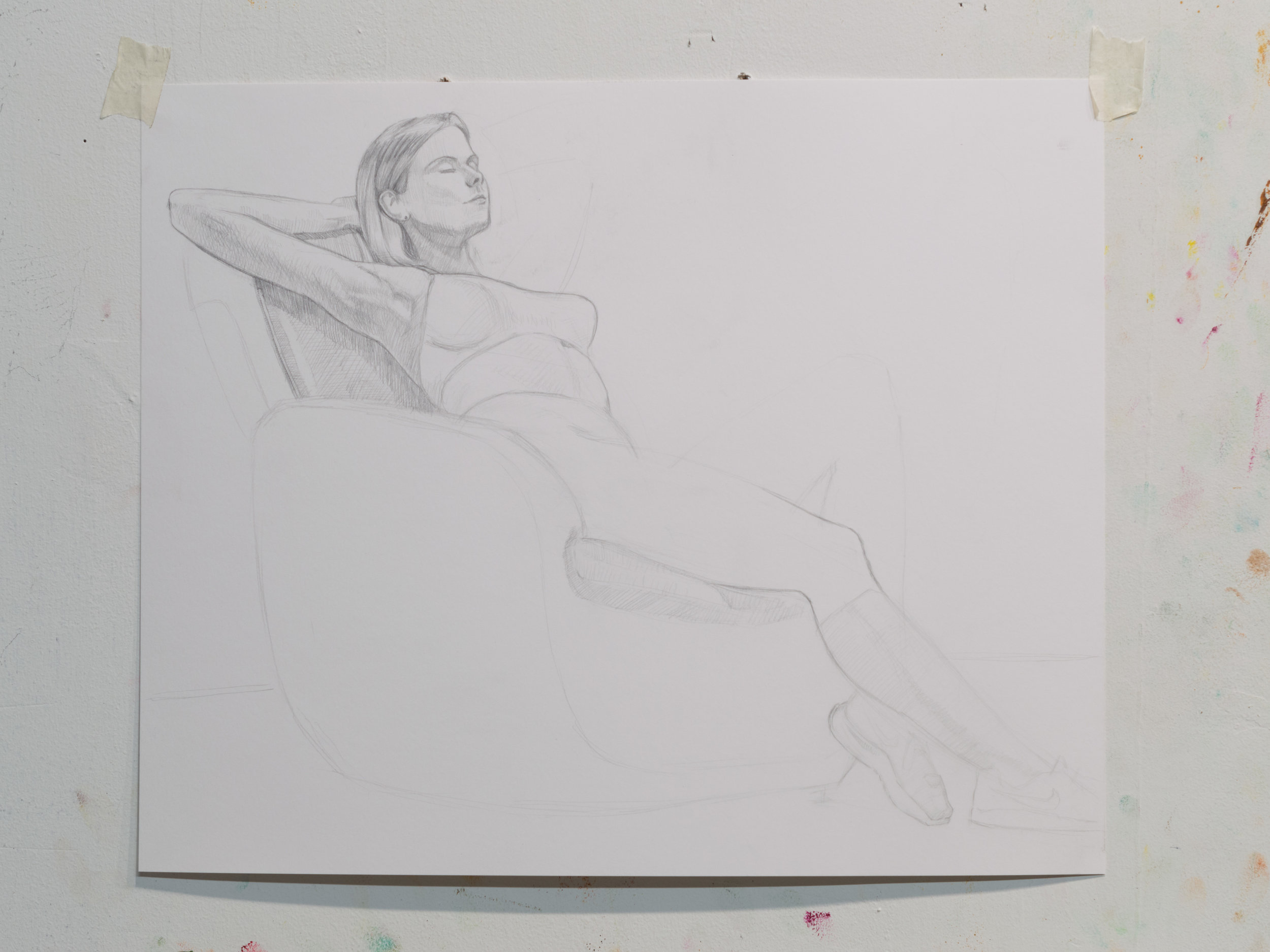 Seated Woman, pencil on paper 2017