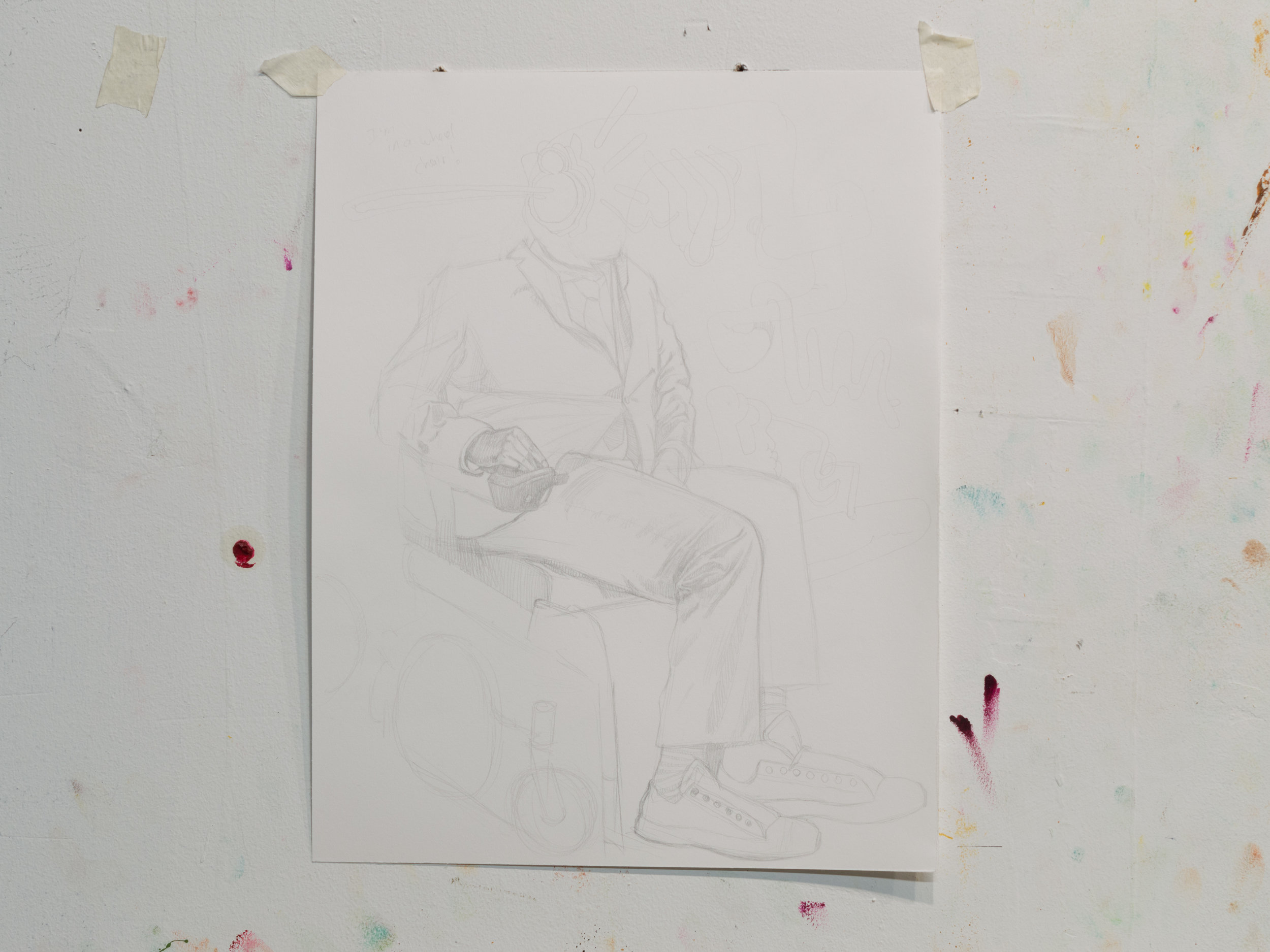 Seated Man, pencil on paper 2017