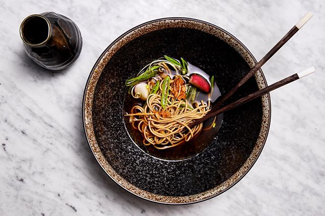 We are open!  Have you tried our new Autumn Menu yet ?  SOBADashi. Seasonal Vegetables. Kimchi  An intense dashi broth served with marinated soba noodles and raw seasonal vegetables. #riverinerabbit #capetownfoodie #capetownsouthafrica #capetownrestaurants #capetown