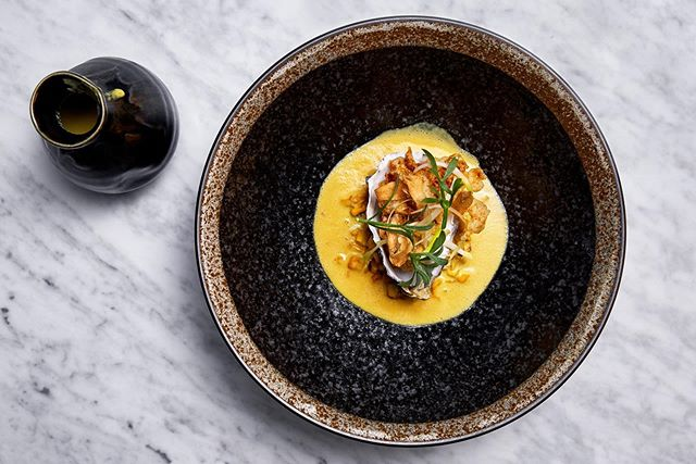 WINTER'S ALMOST HERE  We will be closed for our Annual Winter Break from 23rd June and reopen for Dinner on the 17th July. Have you experienced our Autumn Menu yet?  OYSTER CHOWDER Sweetcorn. Miso. Paprika. Onion  Sweetcorn & oyster chowder served with charred miso sweetcorn, smoked onion and crispy oyster seasoned with paprika salt. #riverinerabbit #capetownfoodie #capetownsouthafrica #capetownrestaurants #capetown #capetownfoodscene