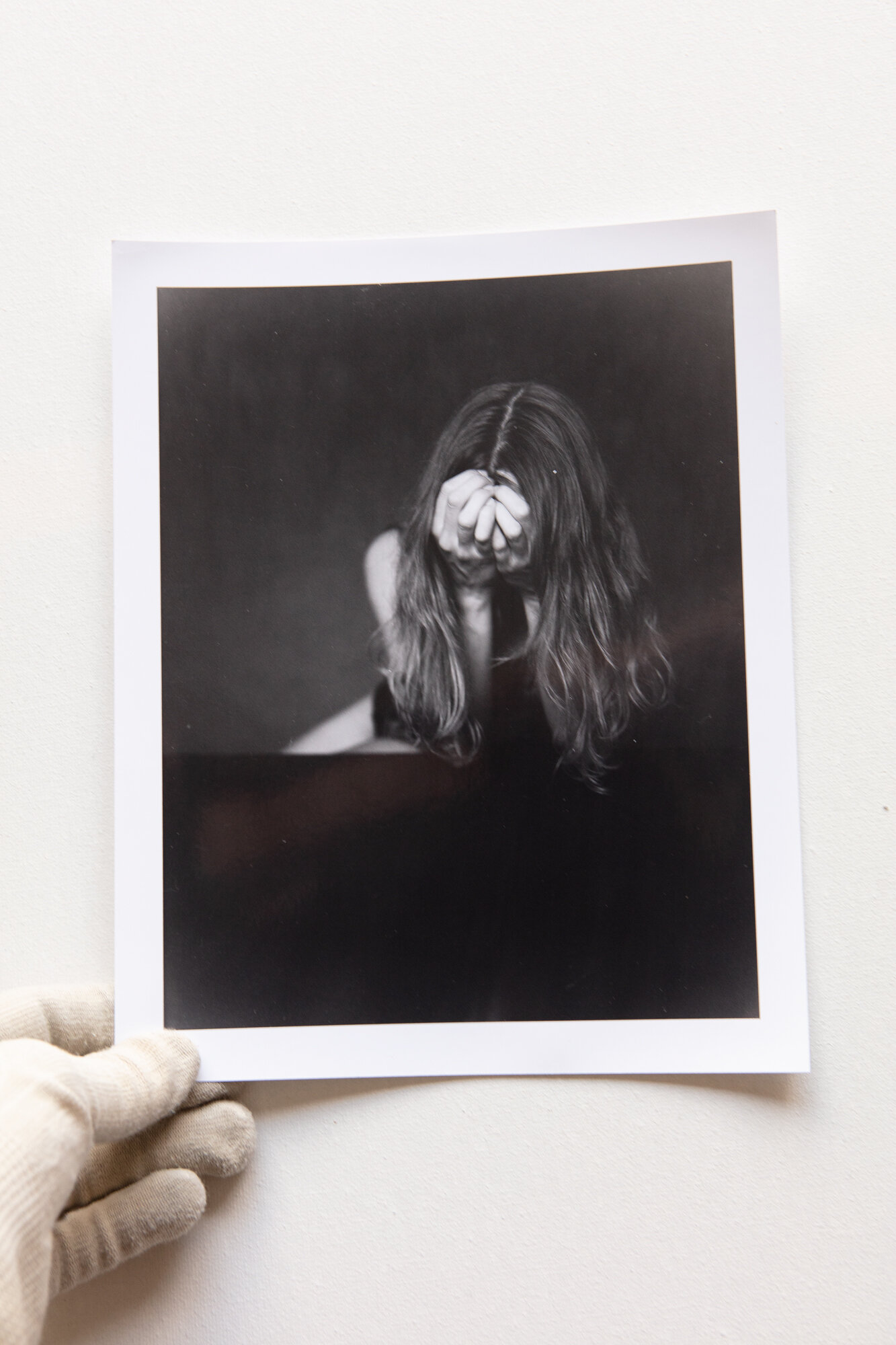 Linda for my Project 'Homo Anonymous' is shipped out to Berlin.   Silvergelatine Print on Ilford Multigrade IV Paper