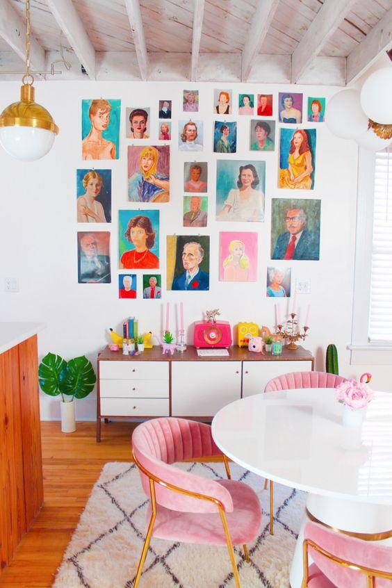 bright gallery wall