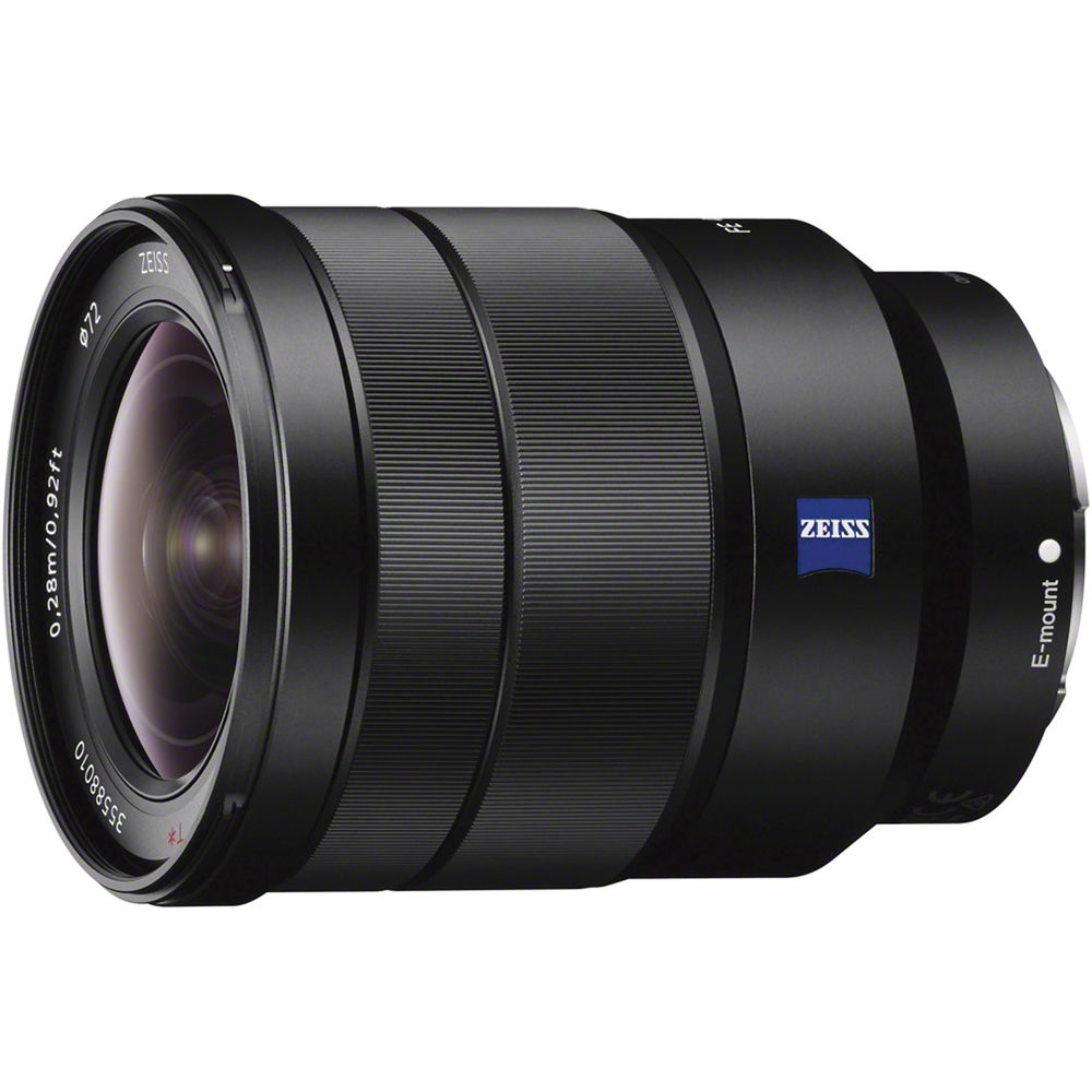 Sony FE Vario-Tessar T* 16-35mm f4 ZA OSS   - E-mount Full Frame format - ZEISS wide-angle zoom lens - Constant F4 maximum aperture