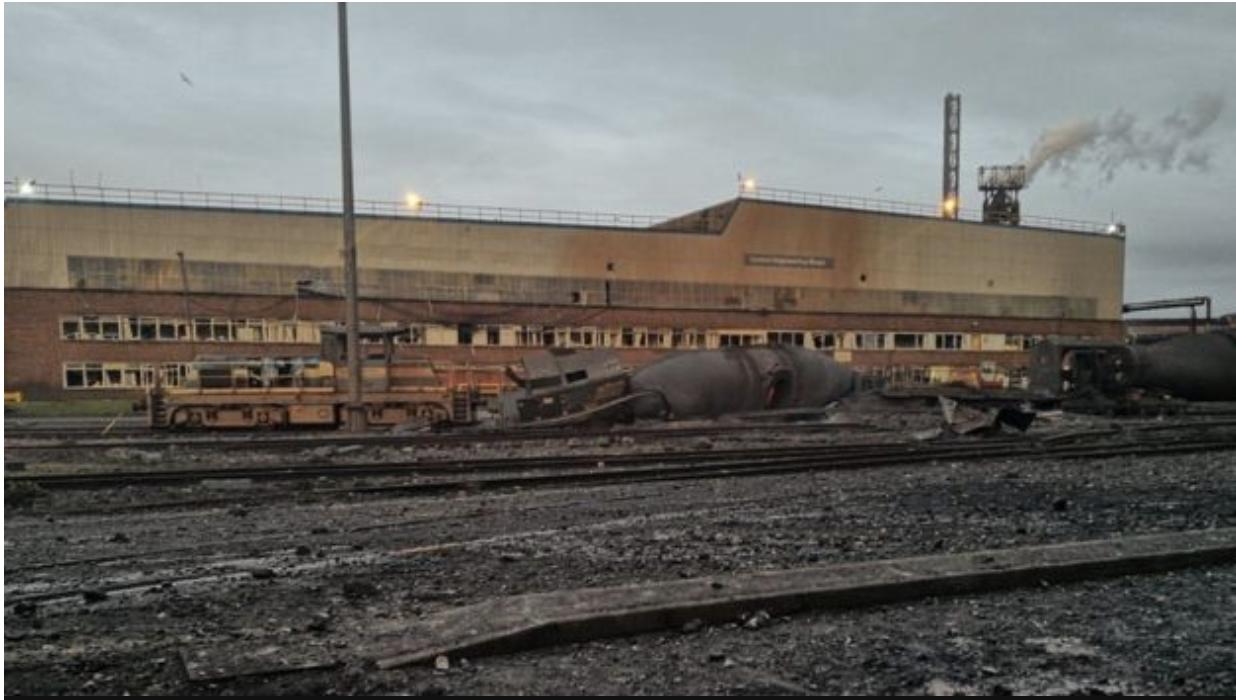 TataSteelExplosions_Train_Damage_BBCImage