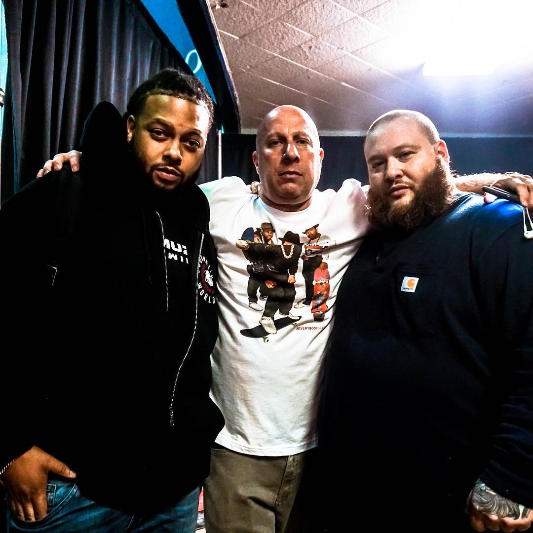 ChrisTheCooker alongside mentor Steve Lobel and neighbor Action Bronson