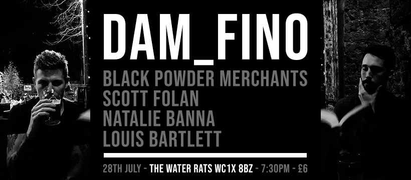 DAM_FINO at The Water Rats London music gig poster.png