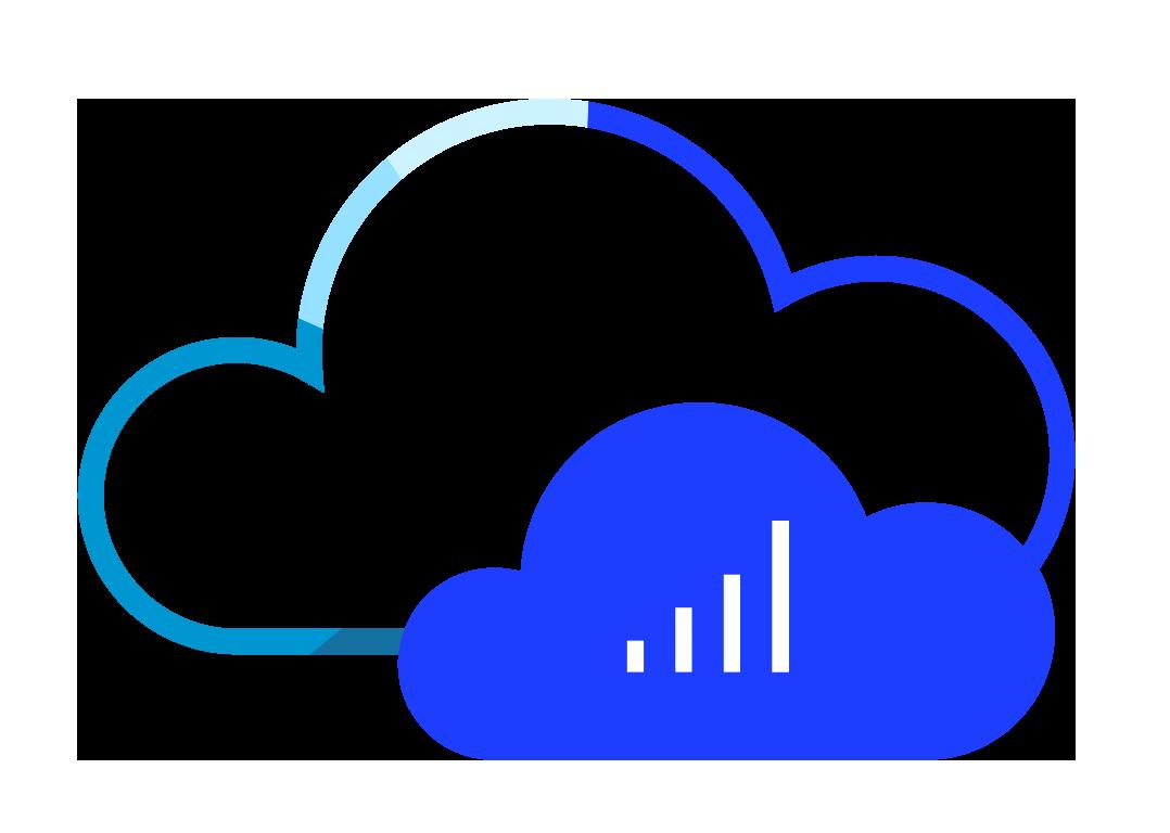 Sentel cloud based technology icon