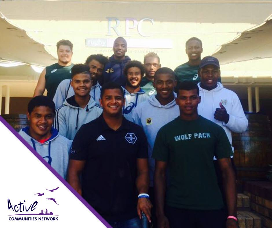 Luq with the SA Rugby Academy