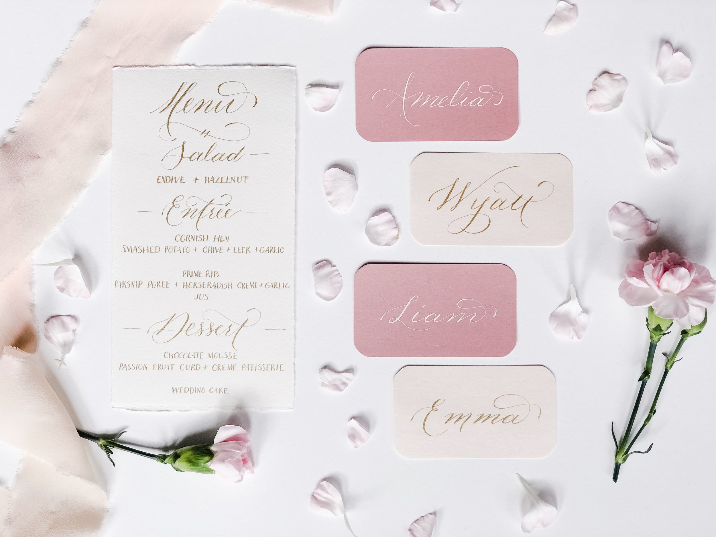 Menu and Place Cards