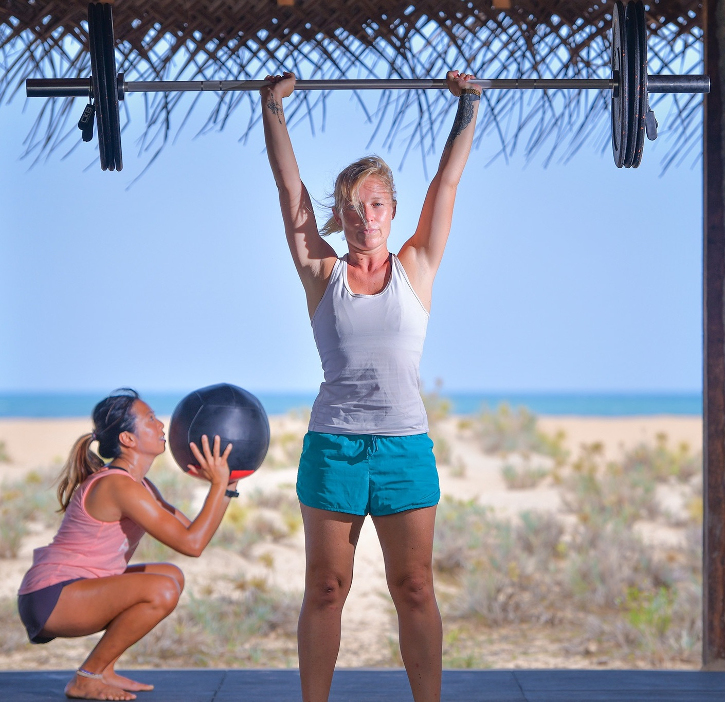 VICTORIA PESTER  FOUNDER & MD  Over 9 years experience of running travel and lifestyle companies in the UK & Asia. Came up with the idea for The BNKR in 2017 inspired by her fitness holidays in Thailand. Certified PT and CrossFit Level 1 Trainer.  Fitness fanatic to counteract passion for wine and all things food! When not busy expanding the BNKR empire, can be found running some of the group classes or running on the beach with her dog Tika.