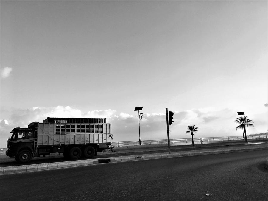 Coastal Highway im Süden von Libanon.