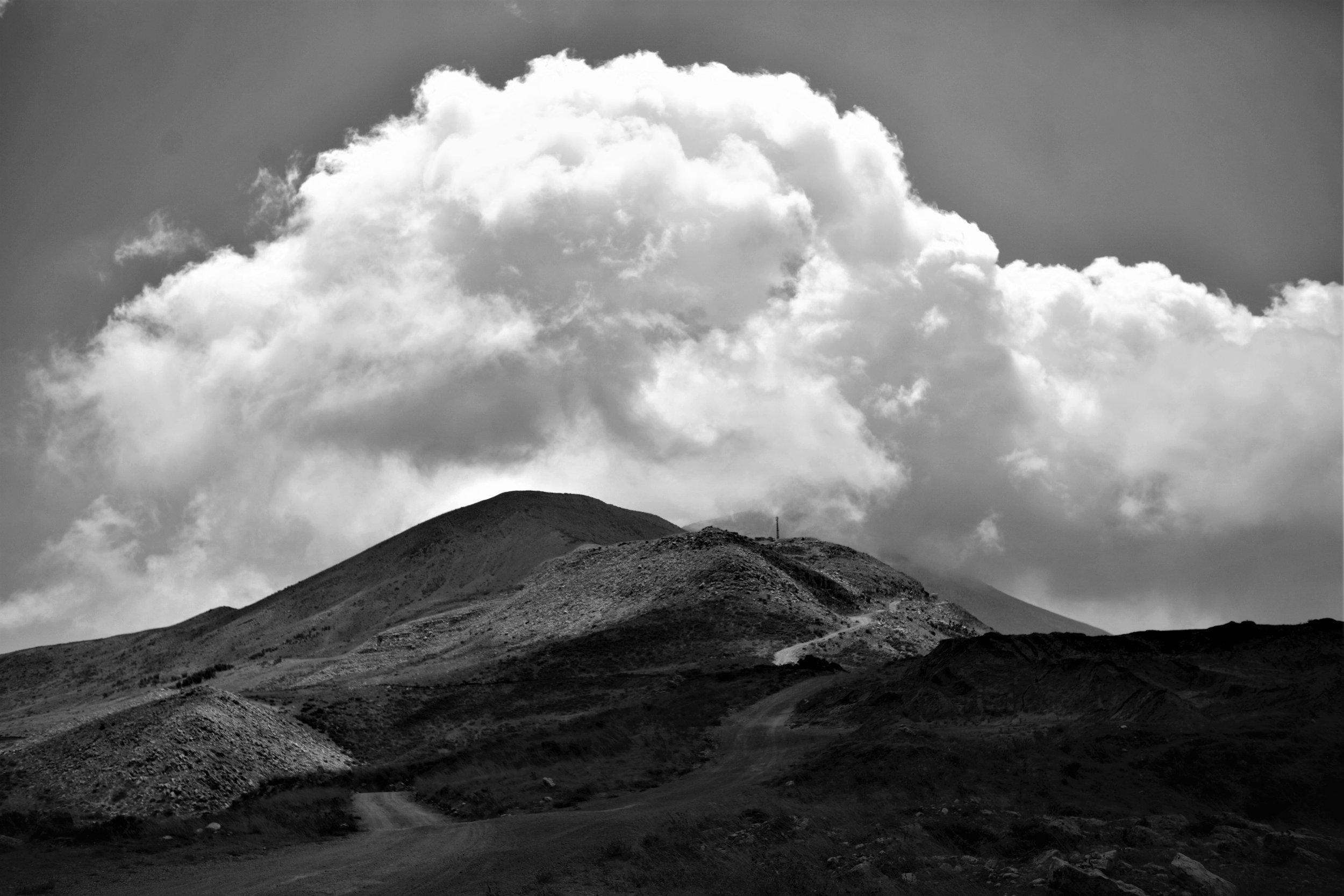 Bergkette am Mount Lebanon mit feuchter Meeresluft.