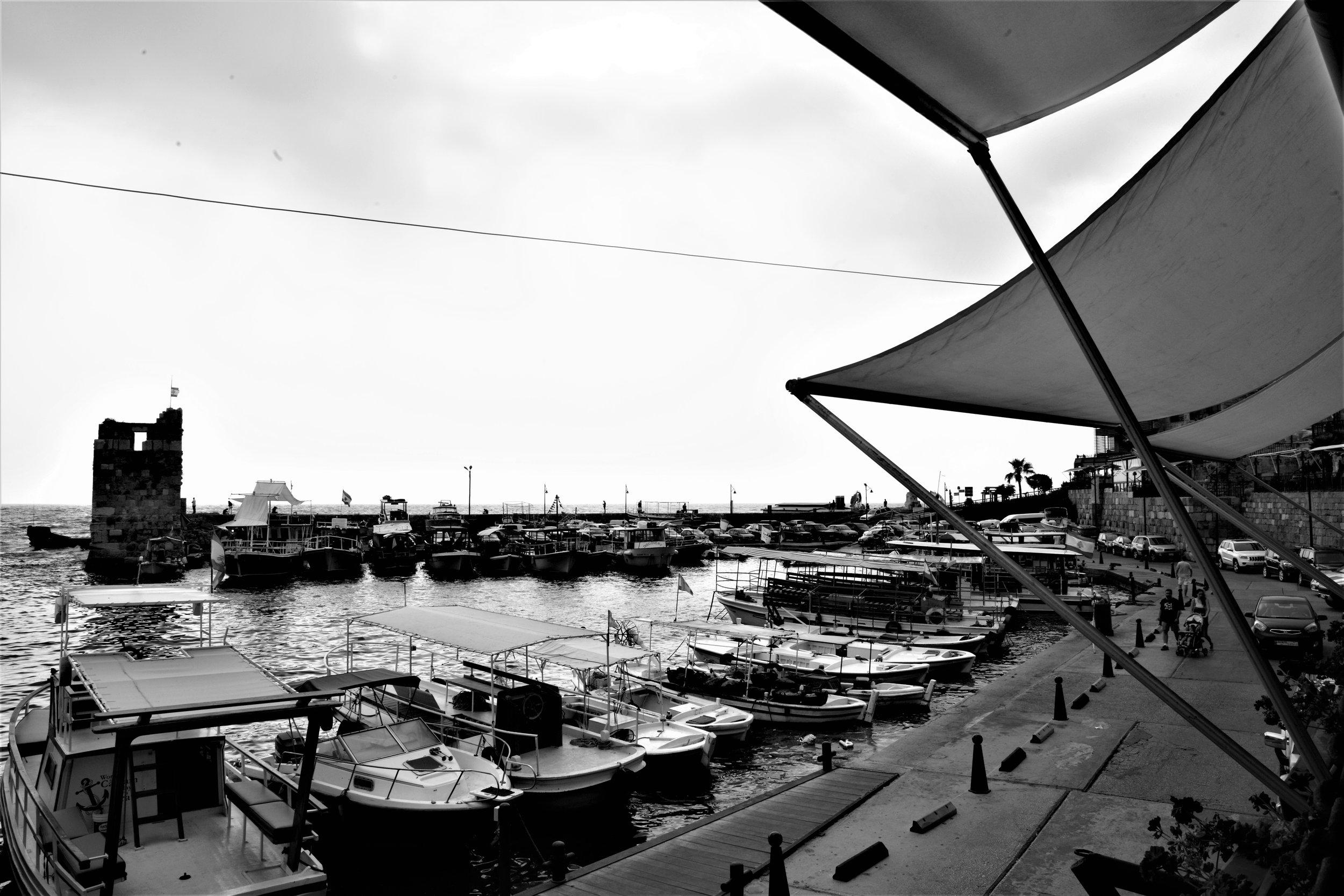 Der alte Hafen von Byblos.