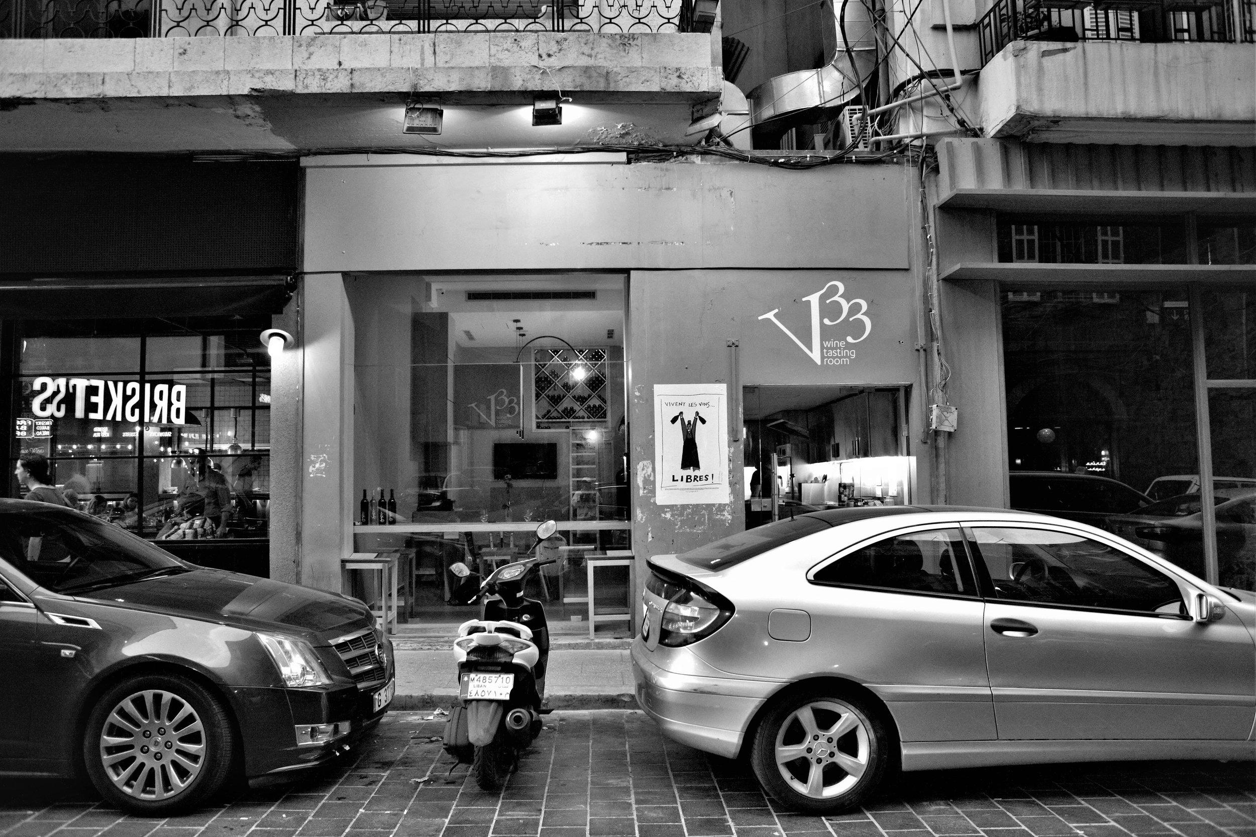 Die Weinbar von Vertical 33 in Beirut.