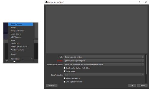 How to Stream Apex Legends with OBS Live (OBS Studio, Single PC