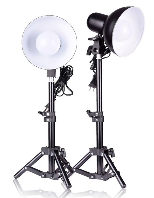 Basic height adjustable lamps for streaming or video work