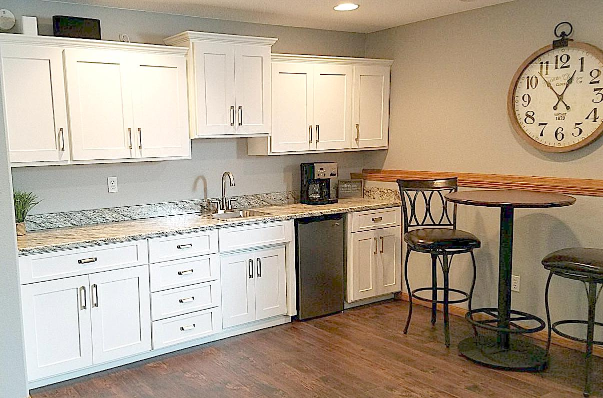 We are blown away by the results - Ericka W., West Fargo, N.D.I want to give a HUGE shout out to the Kitchen Refresh team! From start to finish they were so helpful and efficient. Their work completely transformed our wetbar/entertainment area in our basement. We are blown away by the results.