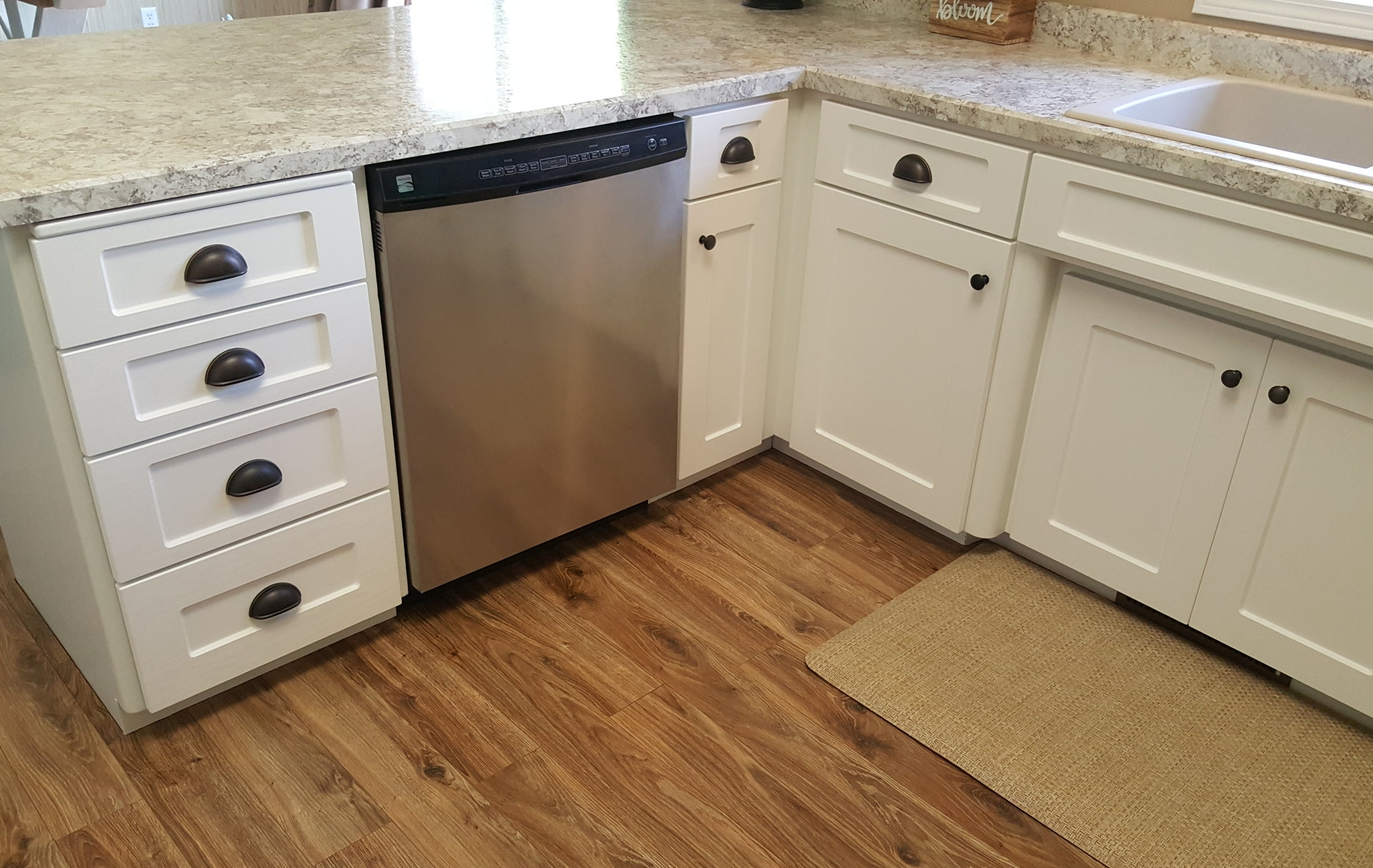 An easy and enjoyable kitchen remodel - Kristi H., Bismarck, N.D.Who knew an entire kitchen remodel could be easy and enjoyable?!?! Everything was coordinated for us from the countertops to the painting and all of the little details. And all of this was done in the most convenient manner - we could use our kitchen during the entire process! We highly recommend Kitchen Refresh!