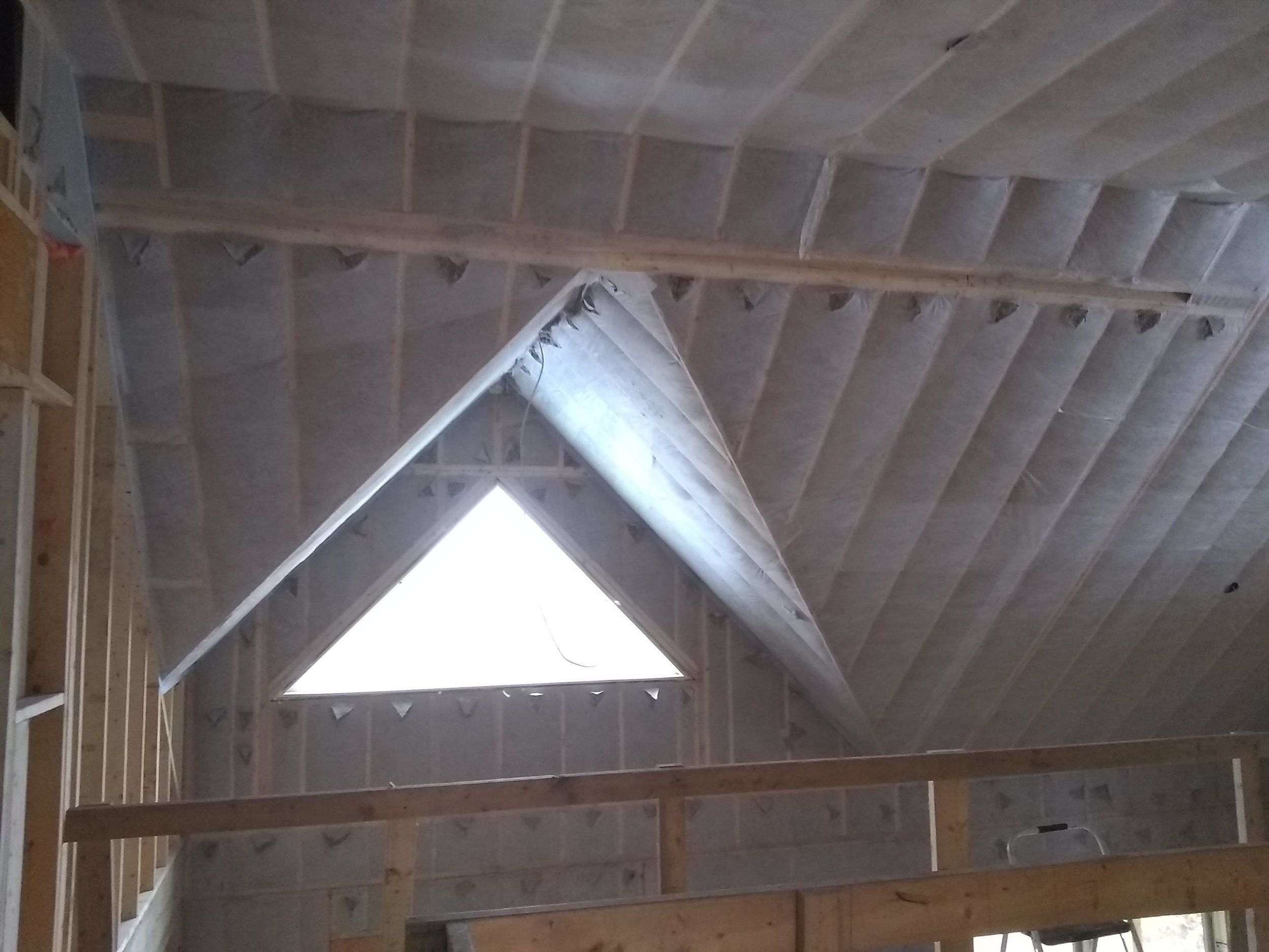 Insulated vaulted ceiling