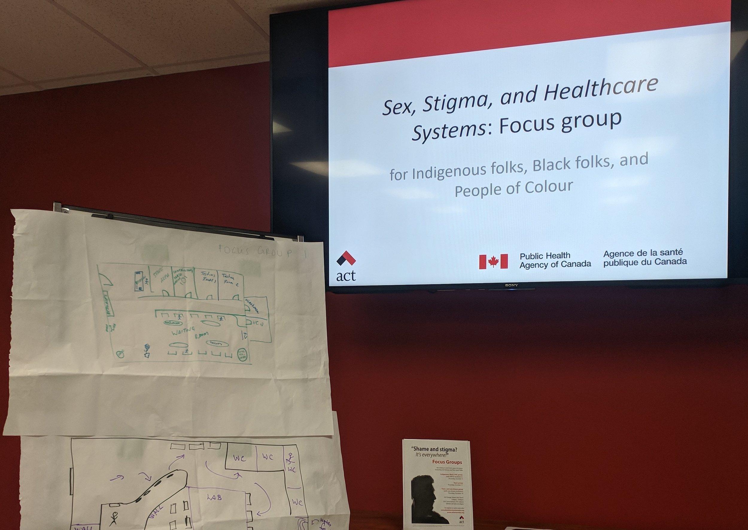 Photo prise lors d'un group de discussion pour les hommes racisés, noirs et indigènes,  ACT .