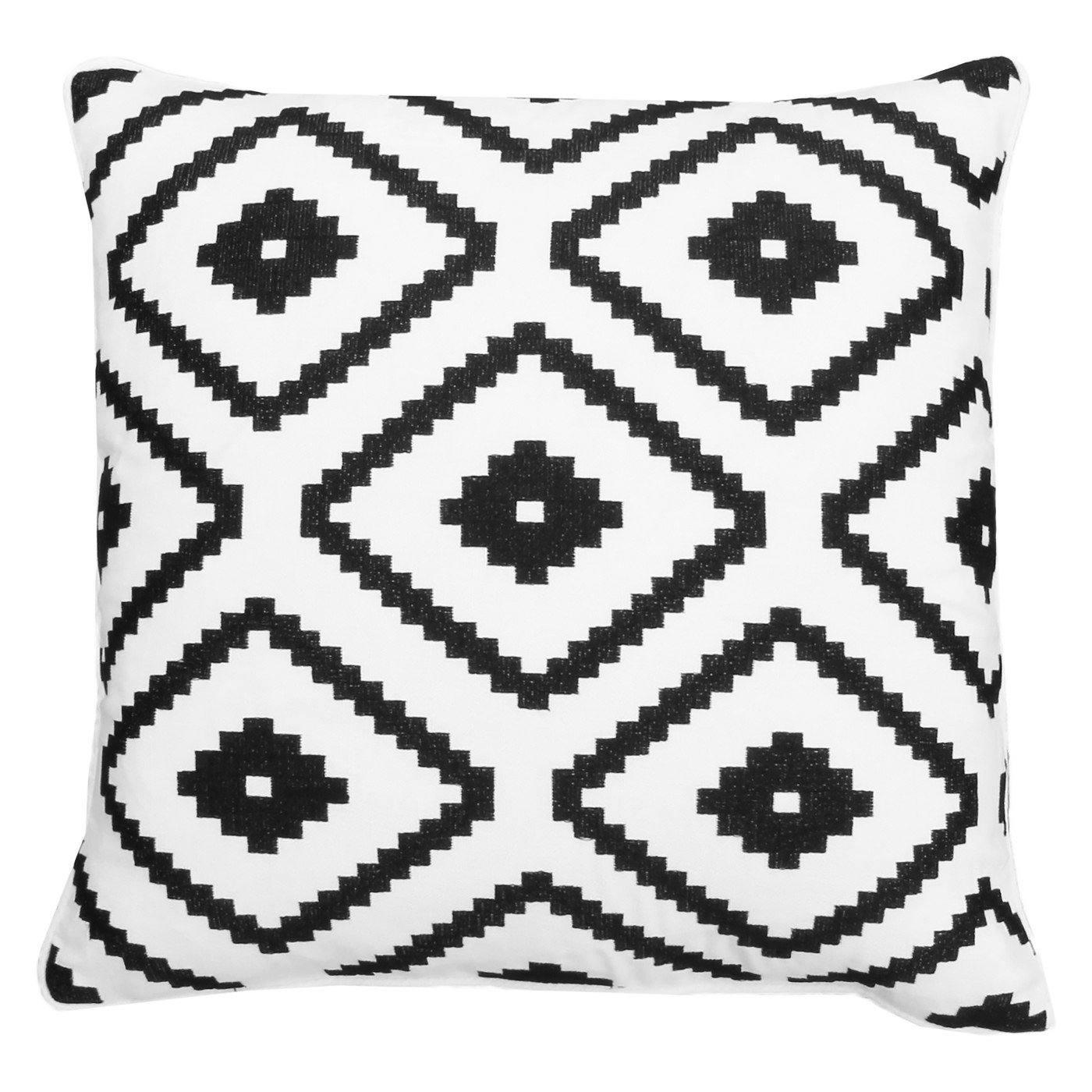 Geometric - A pattern that is displays geometric shapes, typically in a repetitive pattern but may also be asymmetrical.