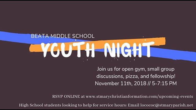 The next youth night is on the calendar! Register online now!