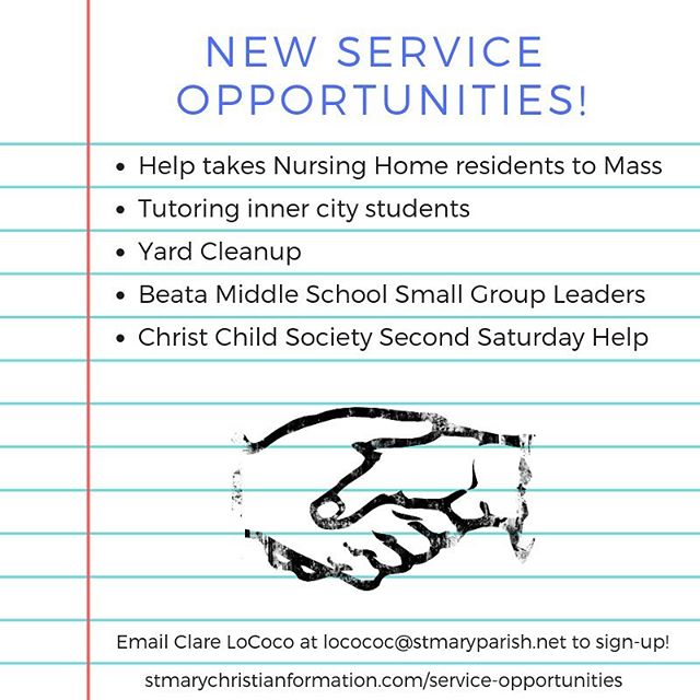Check out our new service opportunities!