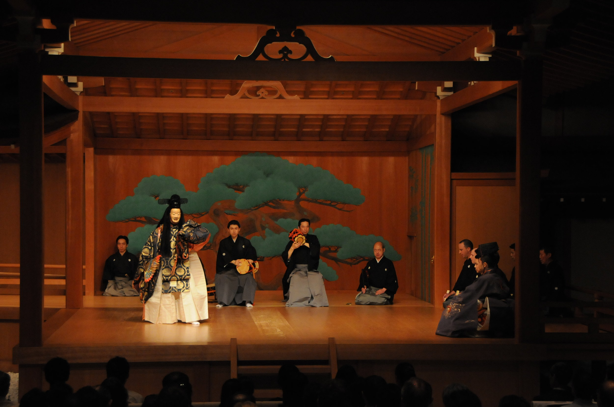 Takasago performed at the National Noh Theatre. Photography by Sohta Kitazawa